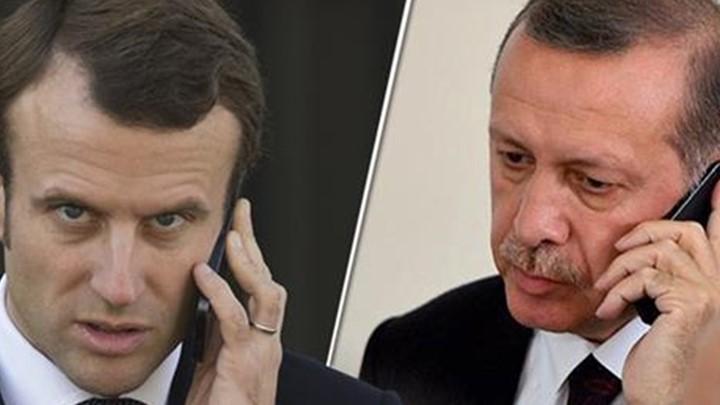 Τηλεφωνική επικοινωνία Μακρόν- Ερντογάν